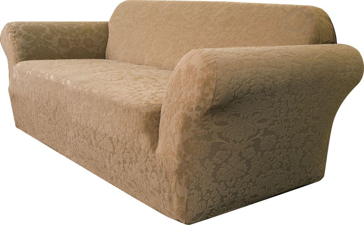 Чехол на двухместный диван Медежда Челтон, цвет: бежевый цена