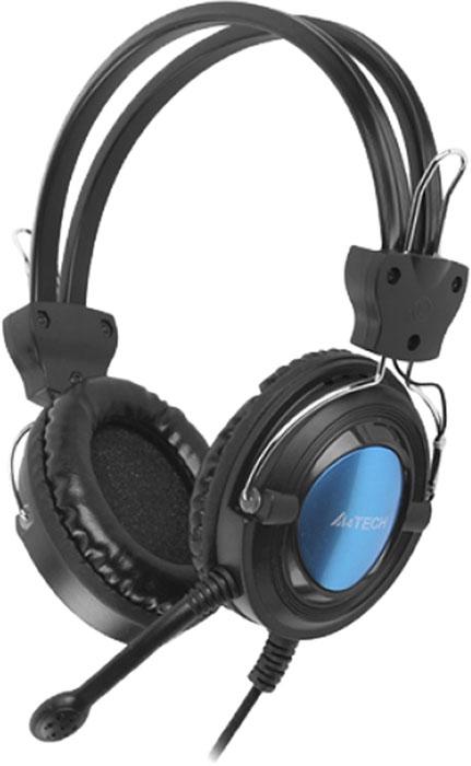 Компьютерная гарнитура A4Tech HS-19-3, Blue компьютерная гарнитура a4tech s 7 1 черный