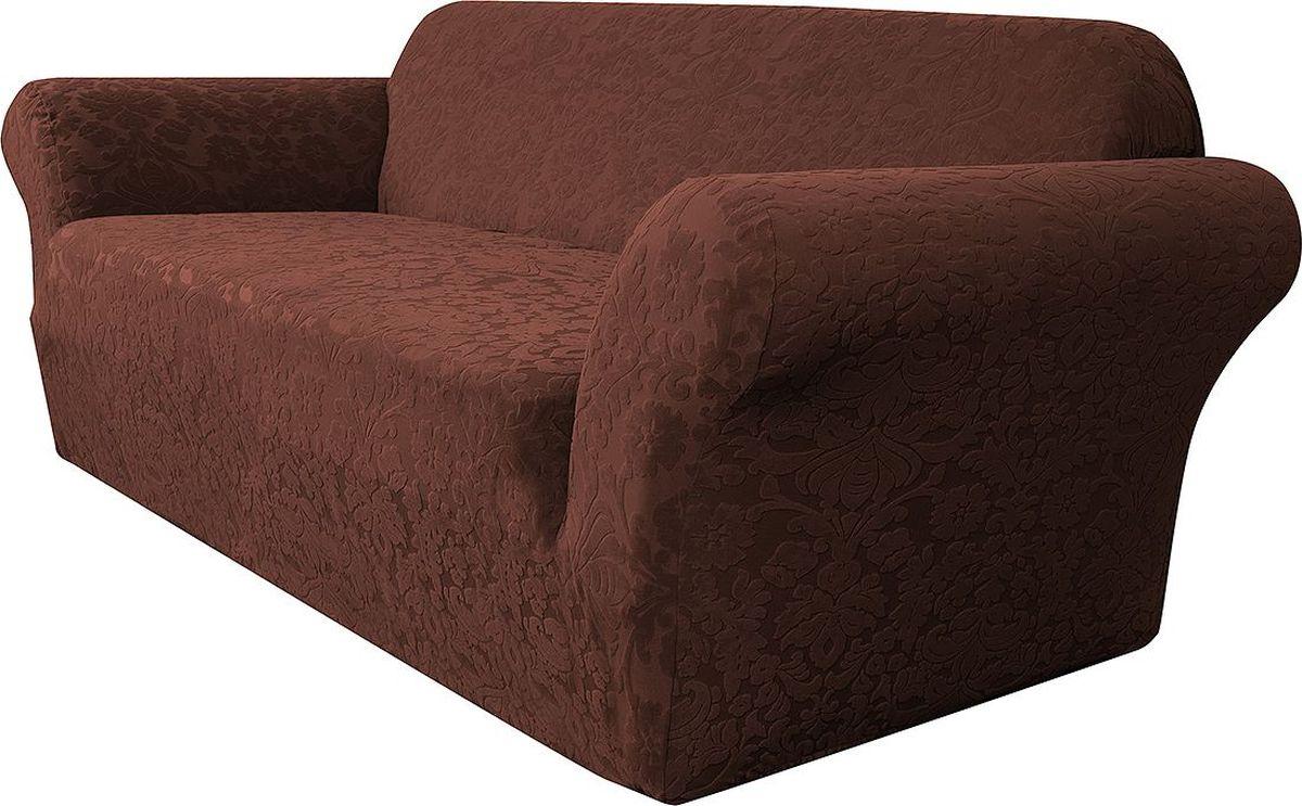 Чехол на двухместный диван Медежда Челтон, цвет: шоколадный цена