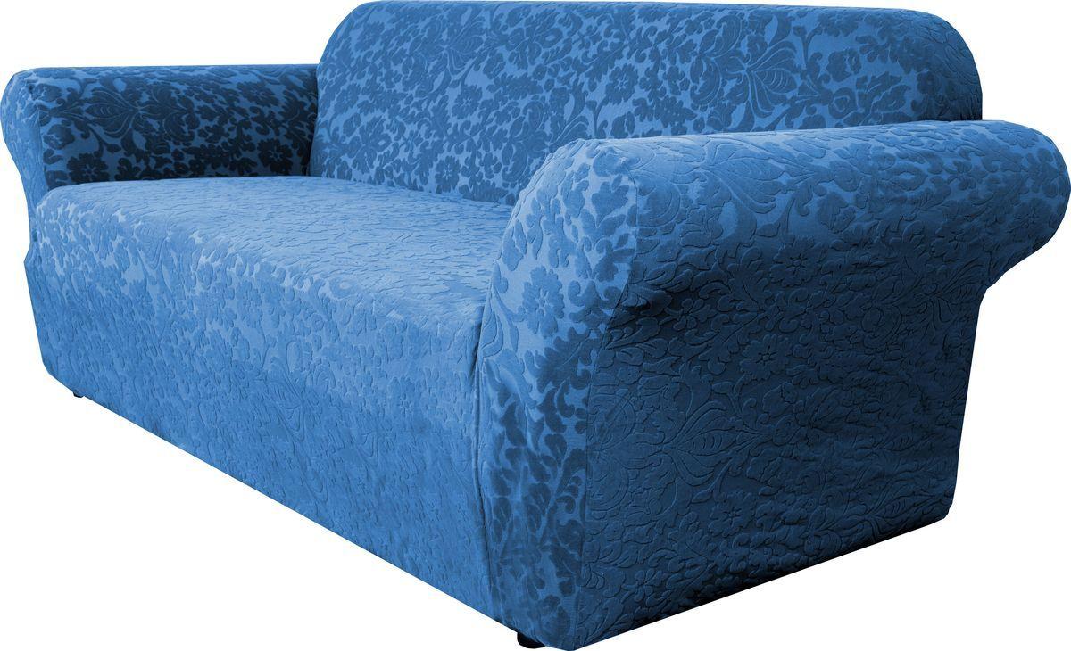 Чехол на трехместный диван Медежда Челтон, цвет: морская волна цена