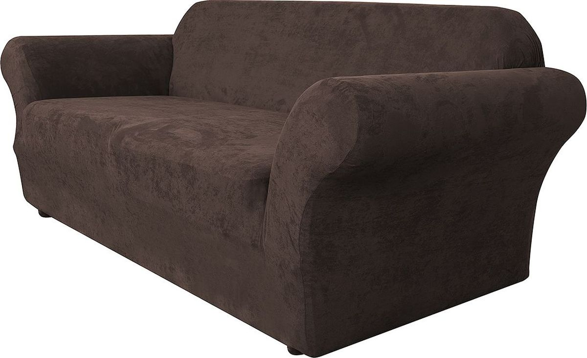 Чехол на трехместный диван Медежда Лидс, цвет: шоколадный цена