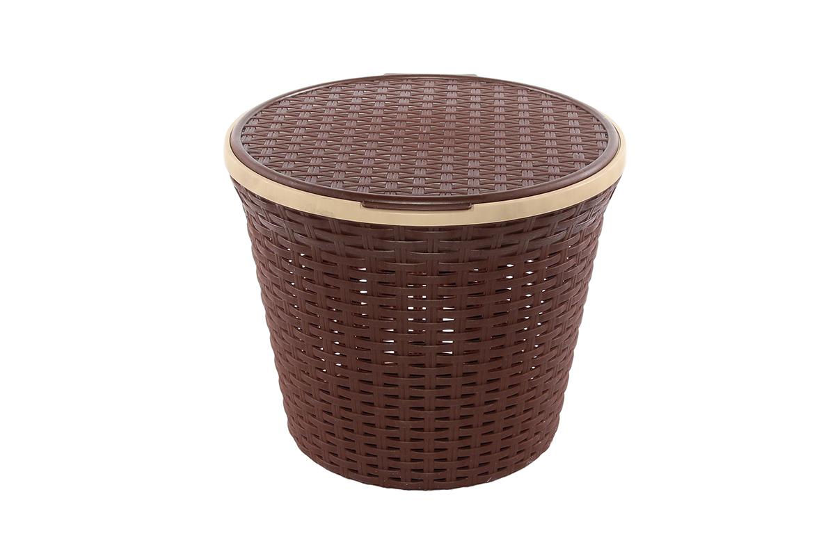 купить Бак для белья Violet Ротанг, коричневый по цене 436 рублей