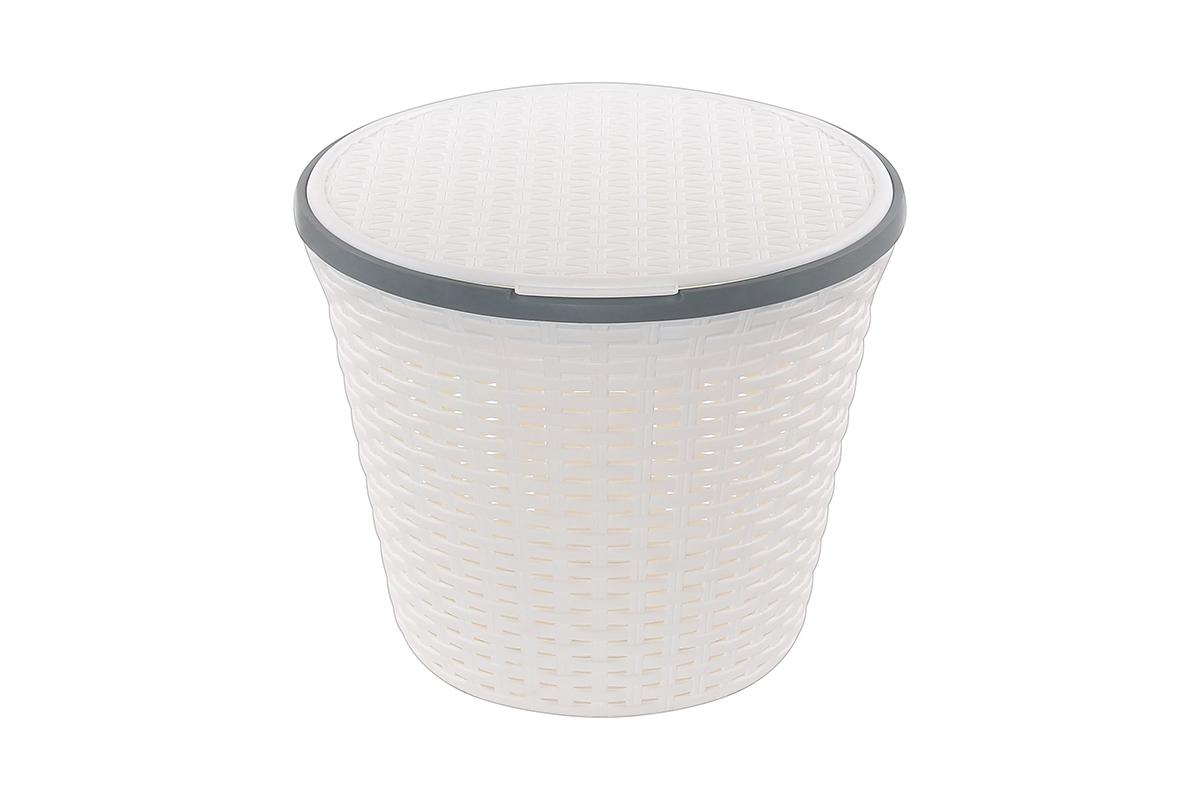 Бак для белья Violet Ротанг, белый комплект wc violet 1301 3 ротанг голубой