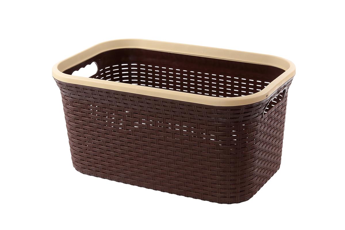 Корзина для хранения Violet Ротанг, цвет: коричневый, 54 х 35 х 26 см корзина для хранения альтернатива вдохновение цвет салатовый 26 5 х 16 5 х 10 см