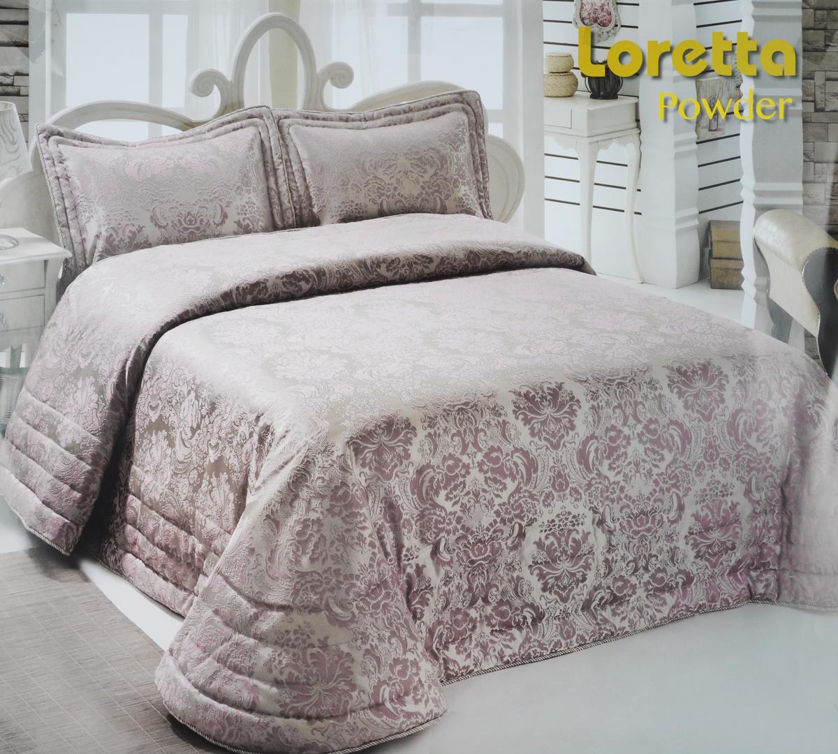 """Комплект для спальни Modalin """"Nazsu. Loretta"""": покрывало 250 х 270 см, 2 наволочки 50 х 70 см, цвет: пыльная роза"""