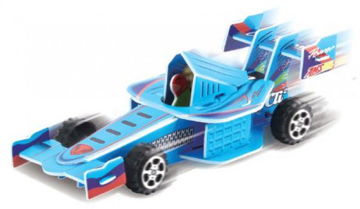 Pilotage 3D Пазл Гоночная машина цвет синий
