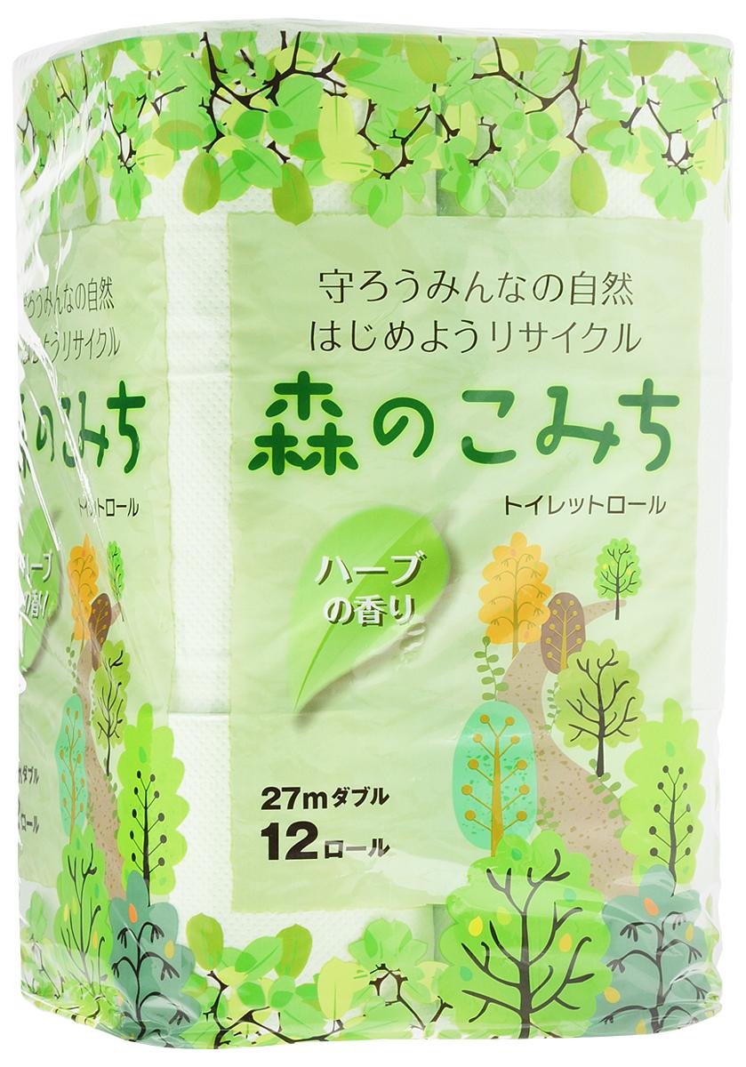 Бумага туалетная Marutomi Лесная тропинка, двухслойная, 12 рулонов тропинка