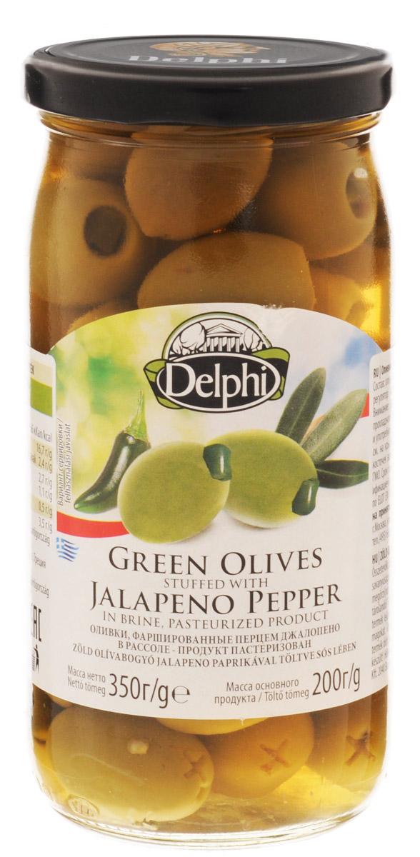 цены на Delphi Оливки фаршированные перцем Джалопено в рассоле, 350 г  в интернет-магазинах