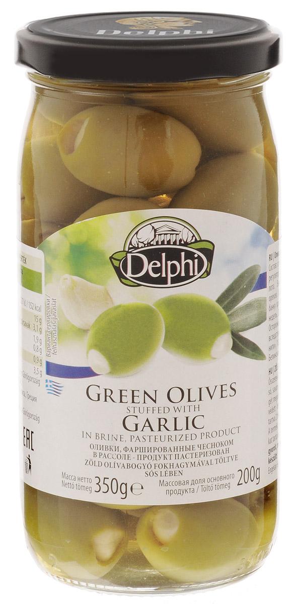 Delphi Оливки фаршированные чесноком, 350 г цена