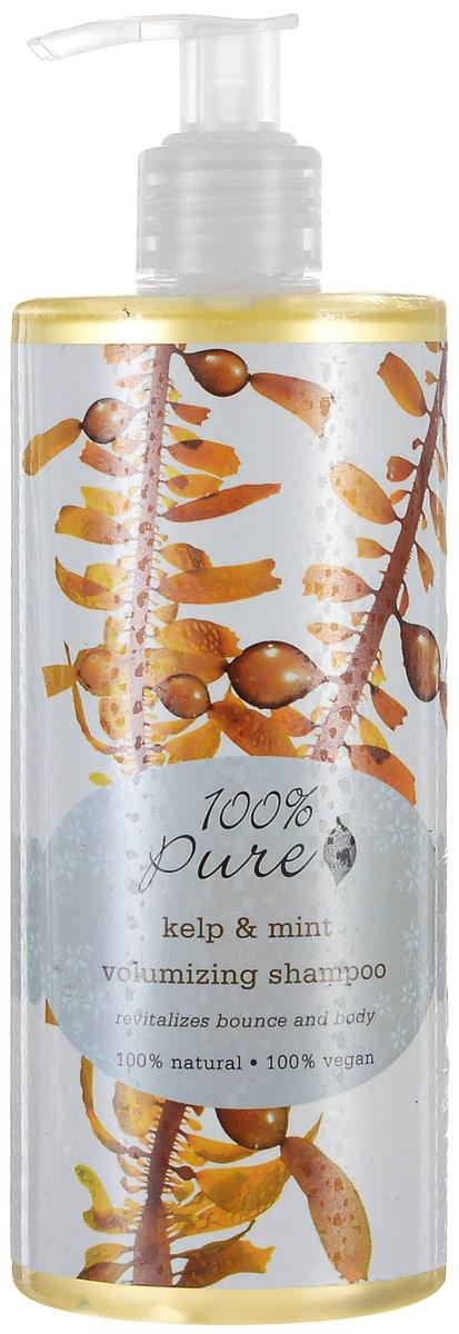 """100% Pure Шампунь для объема волос """"Водоросли и мята"""", 390 мл"""