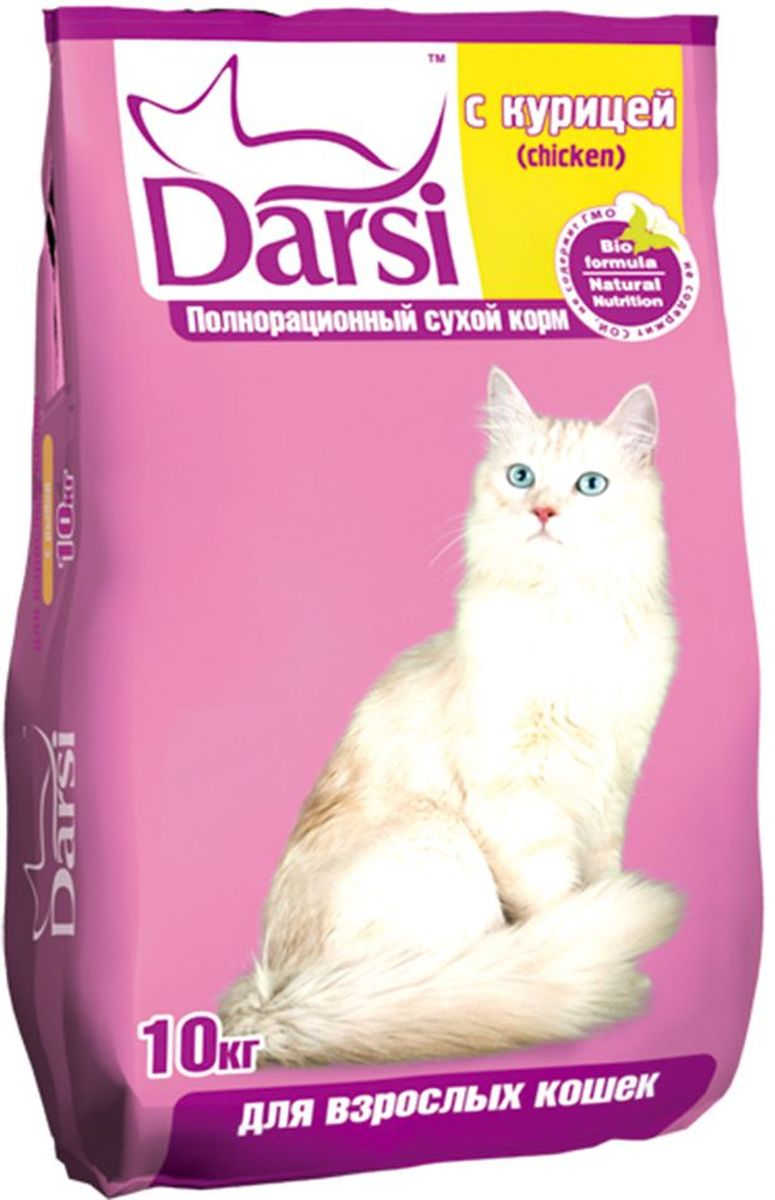 "Корм сухой ""Darsi"", для кошек, с курицей, 10 кг. 0177"