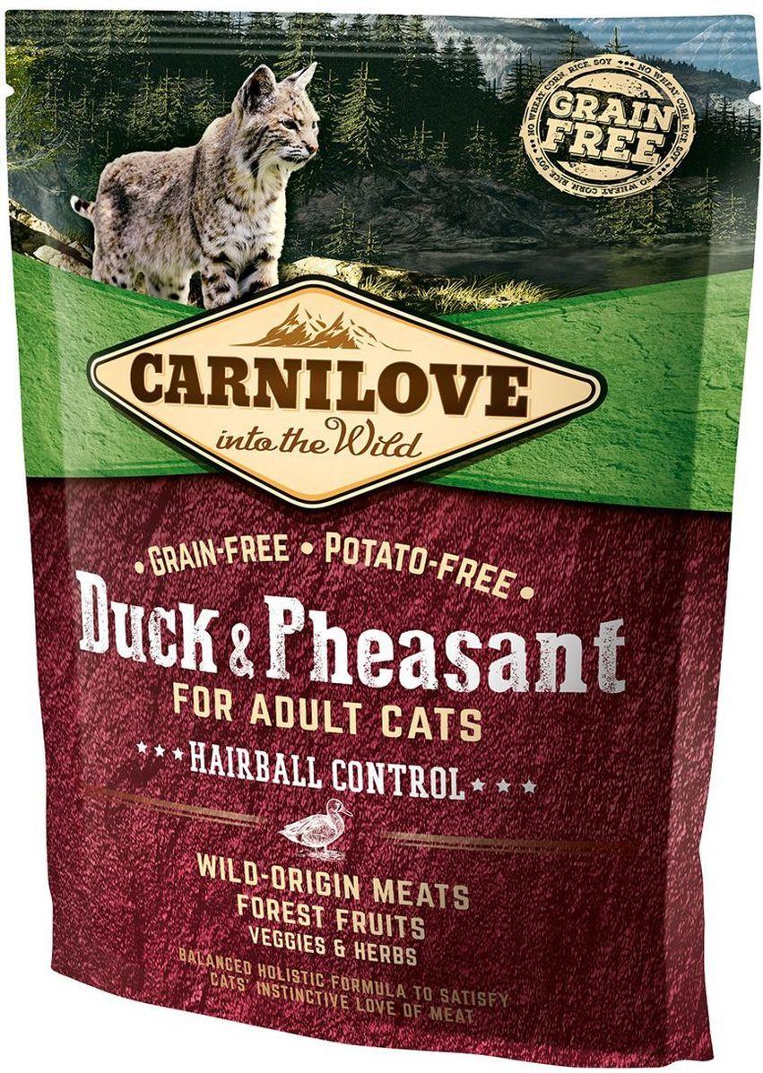 Корм сухой Carnilove, для кошек, беззерновой, с мясом утки и фазана, 400 г корм сухой carnilove для собак беззерновой с мясом утки и фазана 1 5 кг