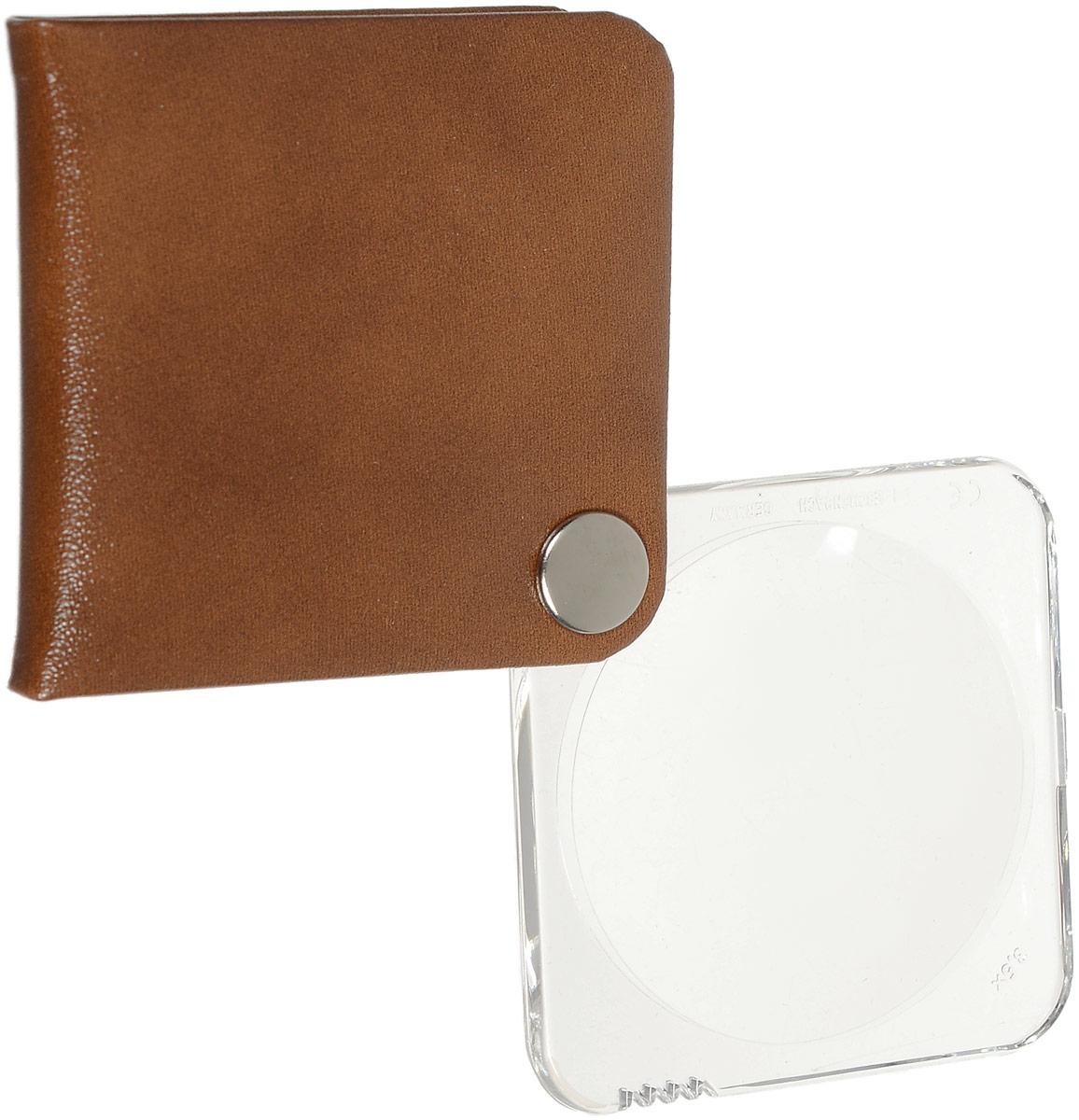 Лупа складная Eschenbach  Classic , цвет: коричневый, 3.5х 10.0 дптр, диаметр 5 см - Лупы