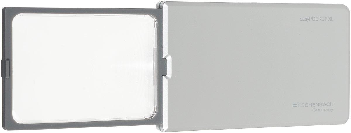 Лупа выдвижная Eschenbach EasyPOCKET XL, с подсветкой, цвет: серебристый, 2.5х 6.0 дптр, 7,8 х 5 см лупа выдвижная eschenbach designo 5 0х 20 0 дптр диаметр 3 см