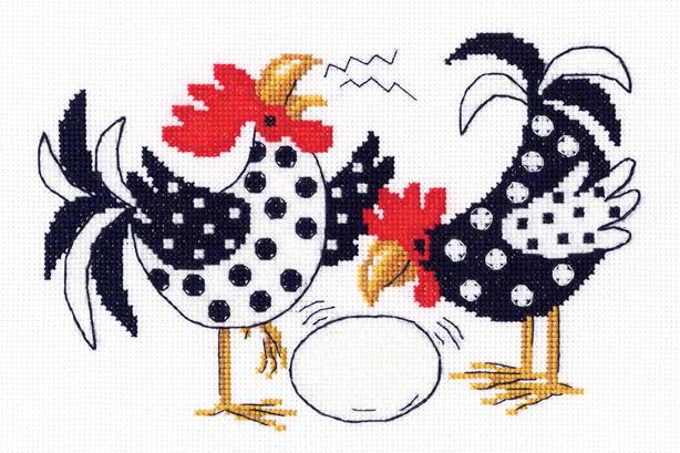 Набор для вышивания крестом RTO Чтобы всего было много, 18,5 x 12,5 см набор для вышивания крестом rto забавный микки 8 х 8 см