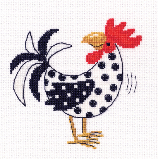 Набор для вышивания крестом RTO Мажорное настроение, 12 х 12 см. C276 набор для вышивания крестом rto котенок с подарком 10 х 10 см