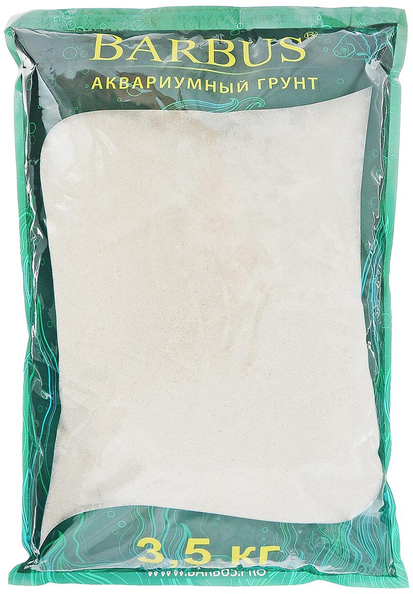 Грунт для аквариума Barbus Карибы, натуральный, кварцевый песок, 0,4-1 мм, 3,5 кг грунт для аквариума barbus премиум натуральный кварц цвет бирюзовый 2 4 мм 1 кг