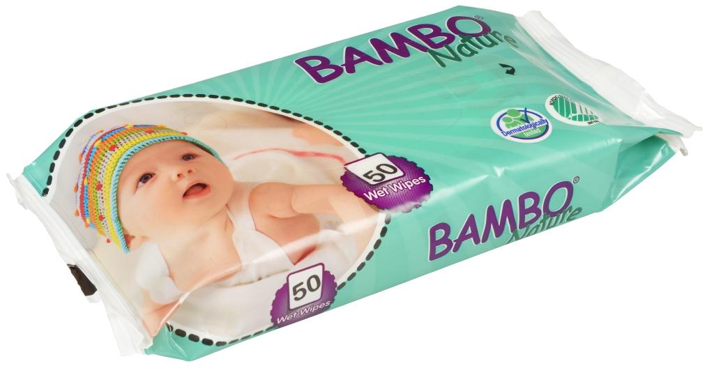 Bambo Nature Влажные салфетки детские без отдушек 50 шт