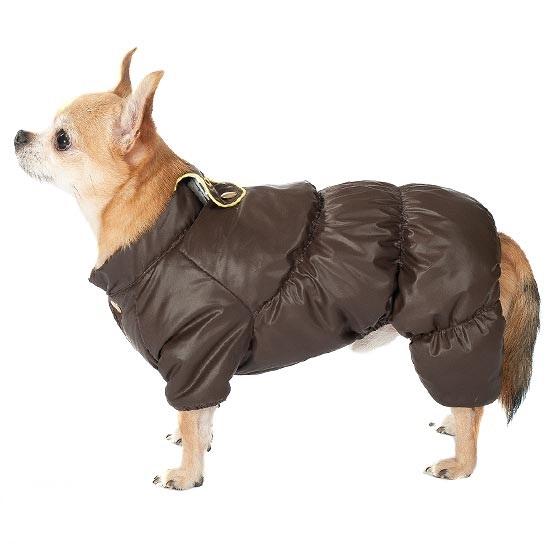 """Комбинезон для собак Dogmoda """"Чихуахуа"""", зимний, унисекс, цвет: серо-зеленый. Безразмерный"""