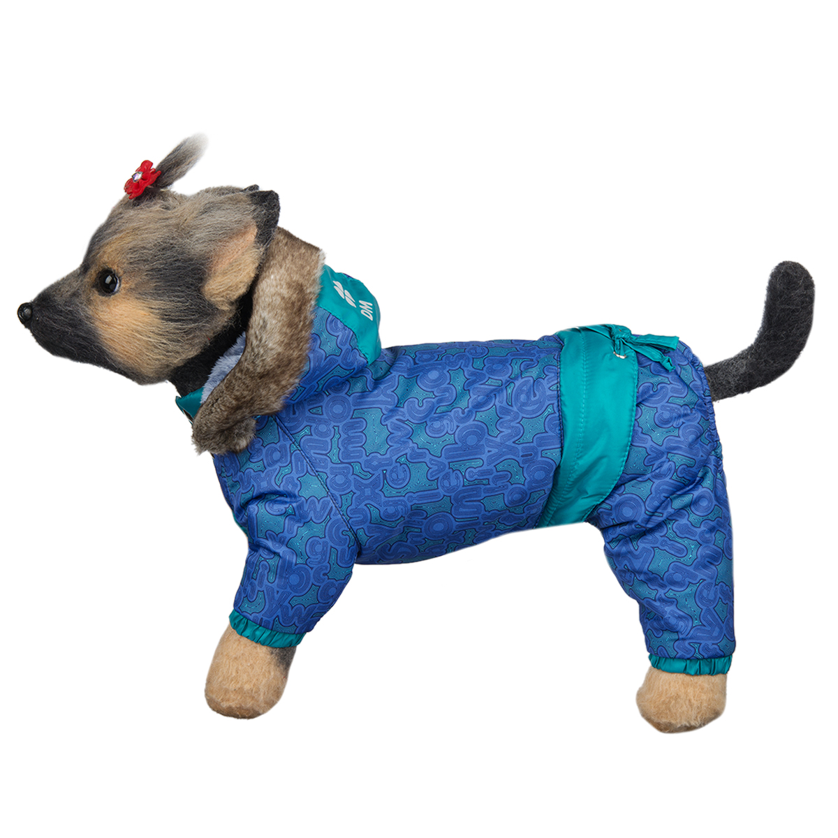 """Комбинезон для собак Dogmoda """"Финляндия"""", унисекс, цвет: синий, бирюзовый. Размер 1 (S)"""