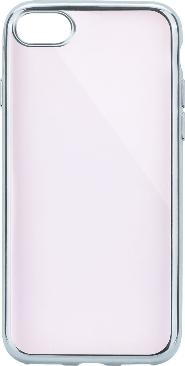 Interstep Frame чехол для Apple iPhone 7/8, Silver interstep чехол аккумулятор для apple iphone 7 6 red 3000 мач