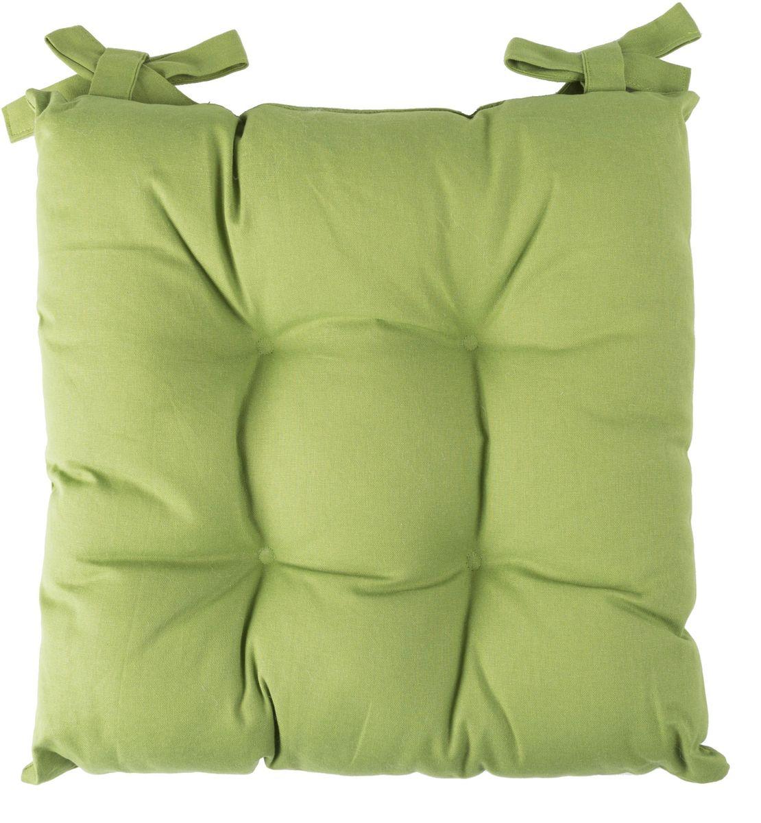 Подушка на стул Daily by T Каролина, цвет: салатовый, 45 х 45 см матрас подушка на подоконник daily home