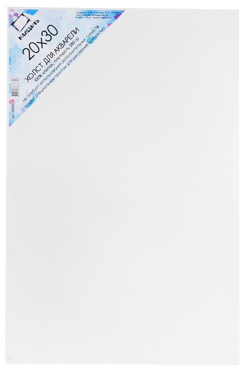 Малевичъ Холст на картоне для акварели 20 х 30 см