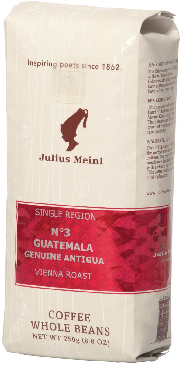Julius Meinl № 3 Гватемала Гению Антигуа Моно сорт кофе в зернах, 250 г meinl nino8