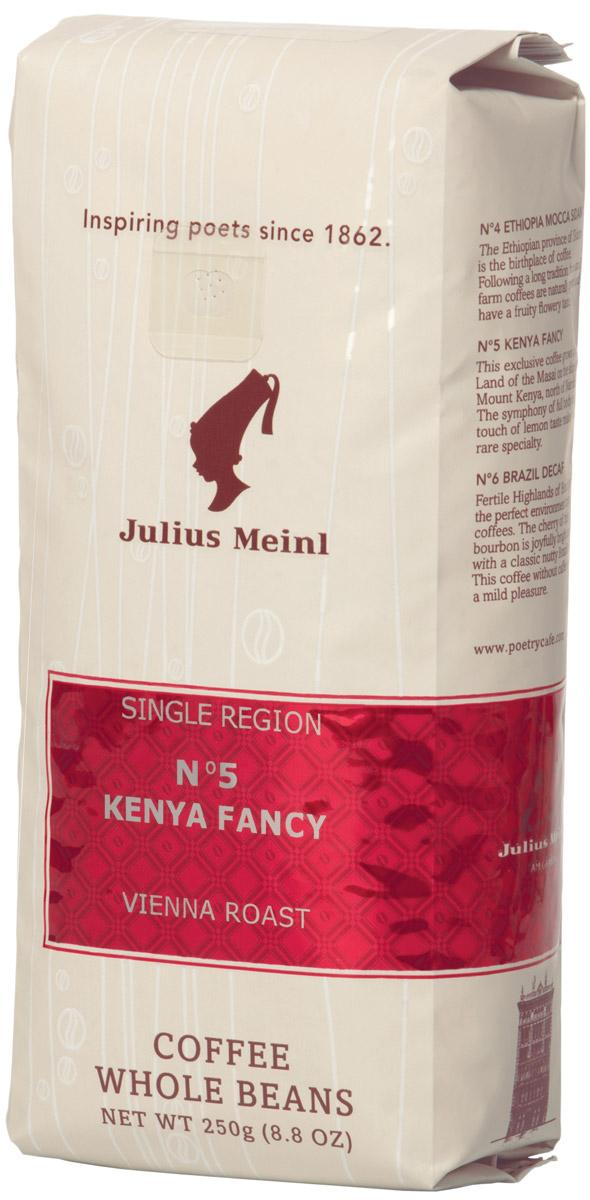 Julius Meinl № 5 Кения Фэнси Моно сорт кофе в зернах, 250 г meinl nino8