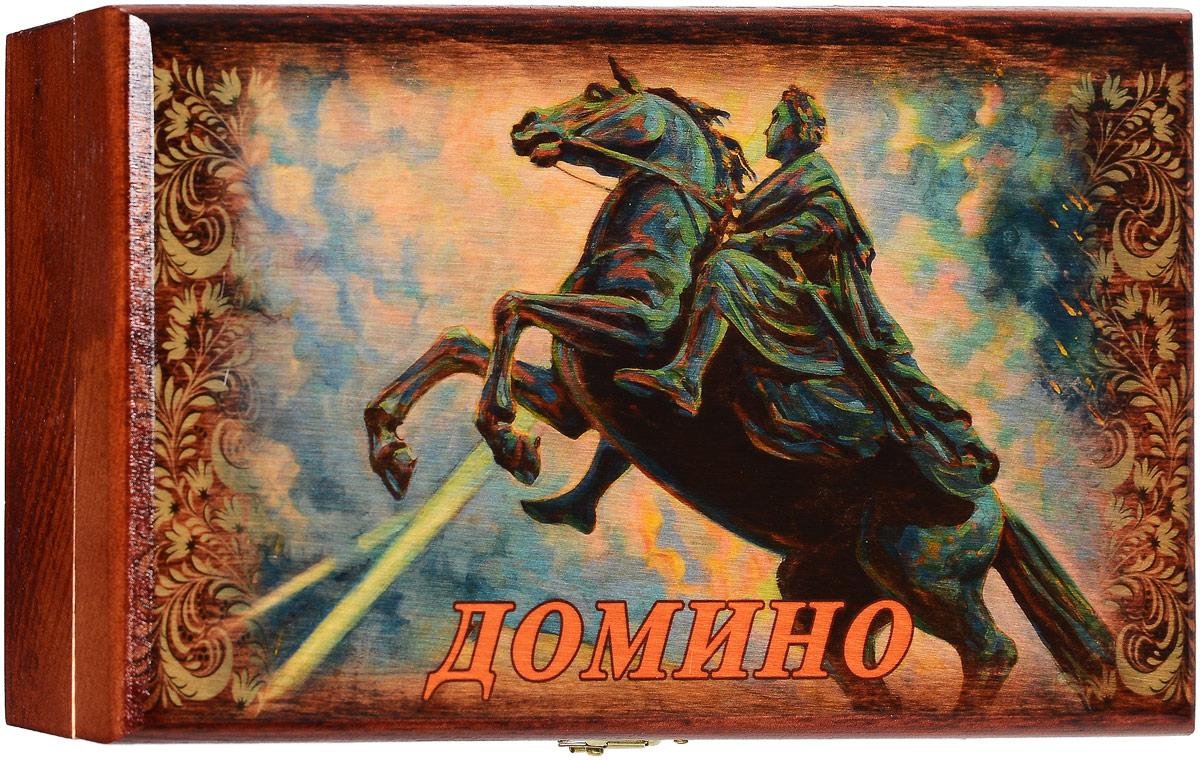 Домино Саванна Медный всадник, в шкатулке, 21 х 13 х 5 см шоколадка 3 5×3 5 см printio медный всадник