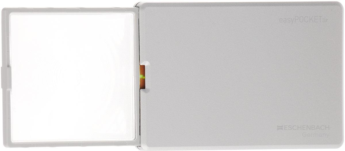 Лупа выдвижная Eschenbach EasyPOCKET, с подсветкой, 3.0х 8.0 дптр, 5 х 4,5 см лупа выдвижная eschenbach designo 5 0х 20 0 дптр диаметр 3 см