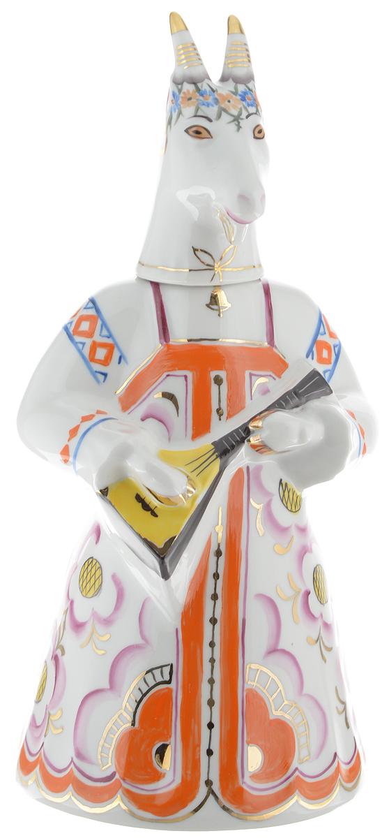 Штоф Фарфор Вербилок Коза с колокольчиком, 1,23 л набор для специй фарфор вербилок веселушки 37860000