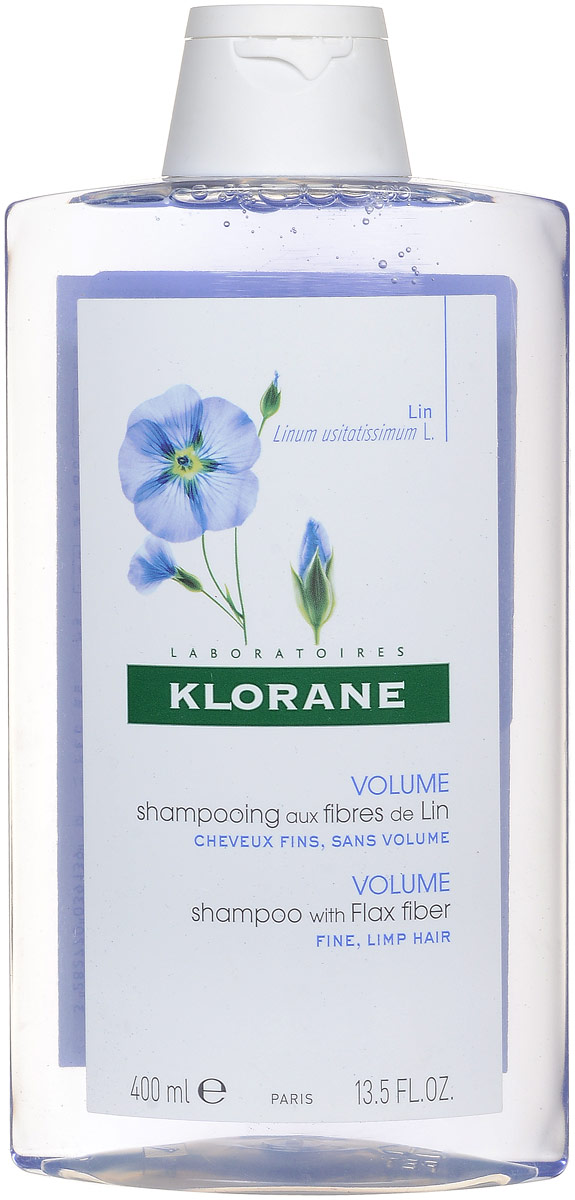 Klorane Fine Hair Шампунь с экстрактом льняного волокна, 400 мл где купить шампунь klorane