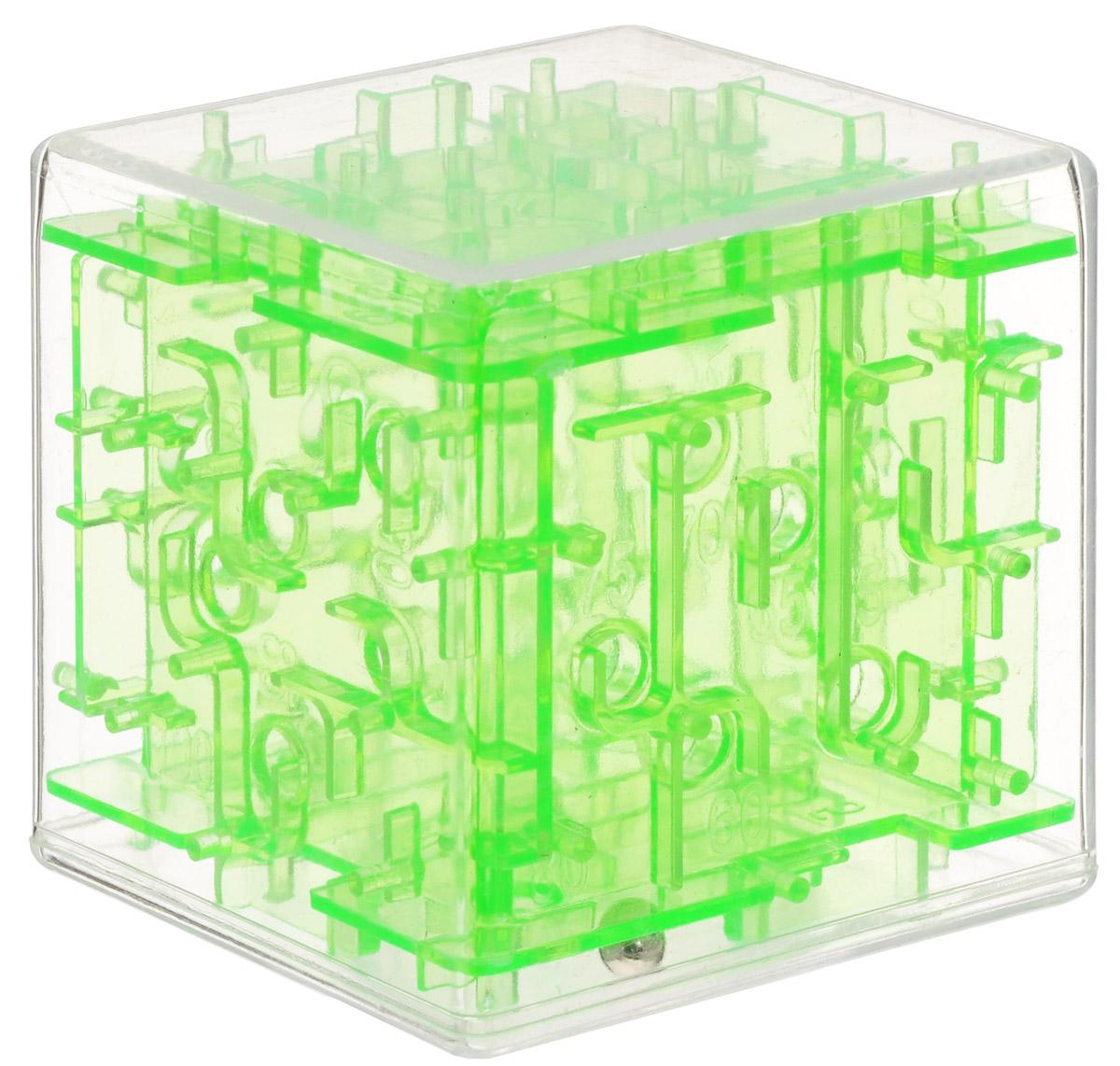Эврика Головоломка-лабиринт Куб цвет зеленый головоломка эврика лабиринт сфера red 98723
