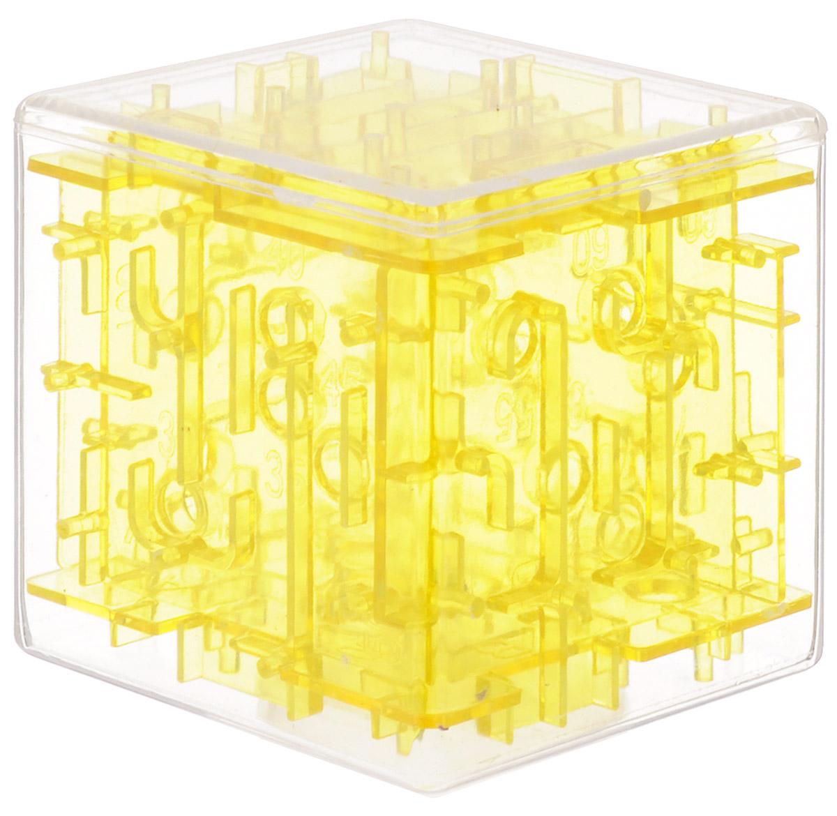 Эврика Головоломка-лабиринт Куб цвет желтый головоломка эврика лабиринт сфера red 98723
