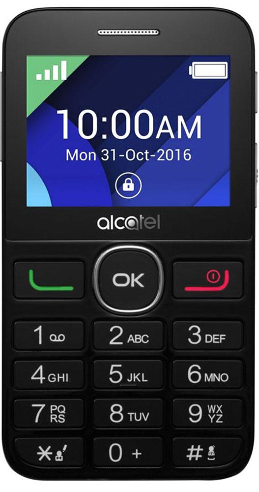 Мобильный телефон Alcatel 2008G, черный, серебристый телефон qukitel