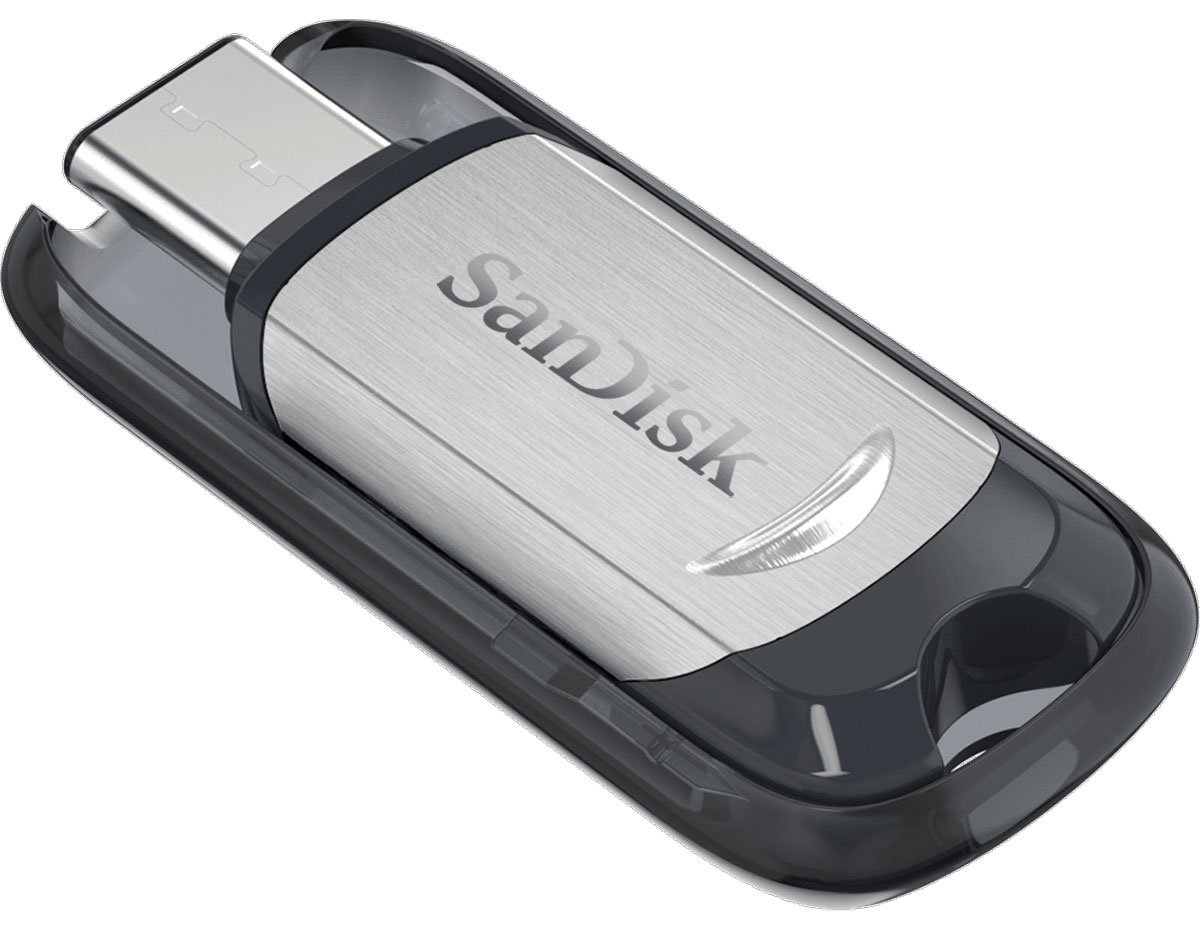 SanDisk Ultra Type-C 128Gb, Black Silver USB-накопитель sandisk ultra type c 16gb black silver usb накопитель