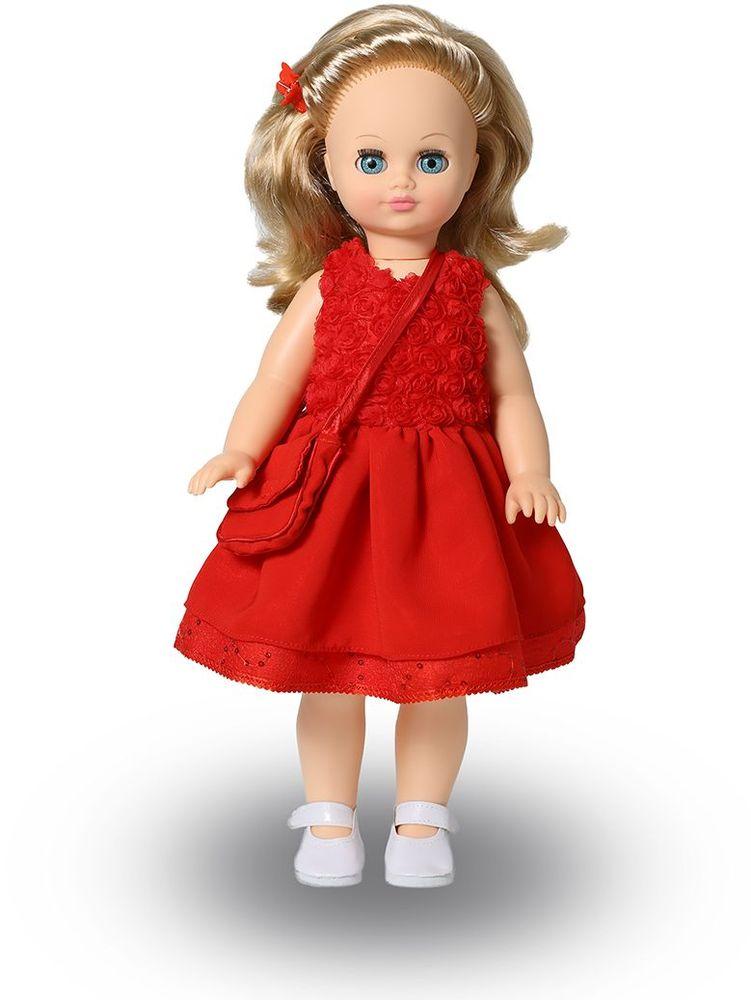 Весна Кукла озвученная Лиза цвет платья красный