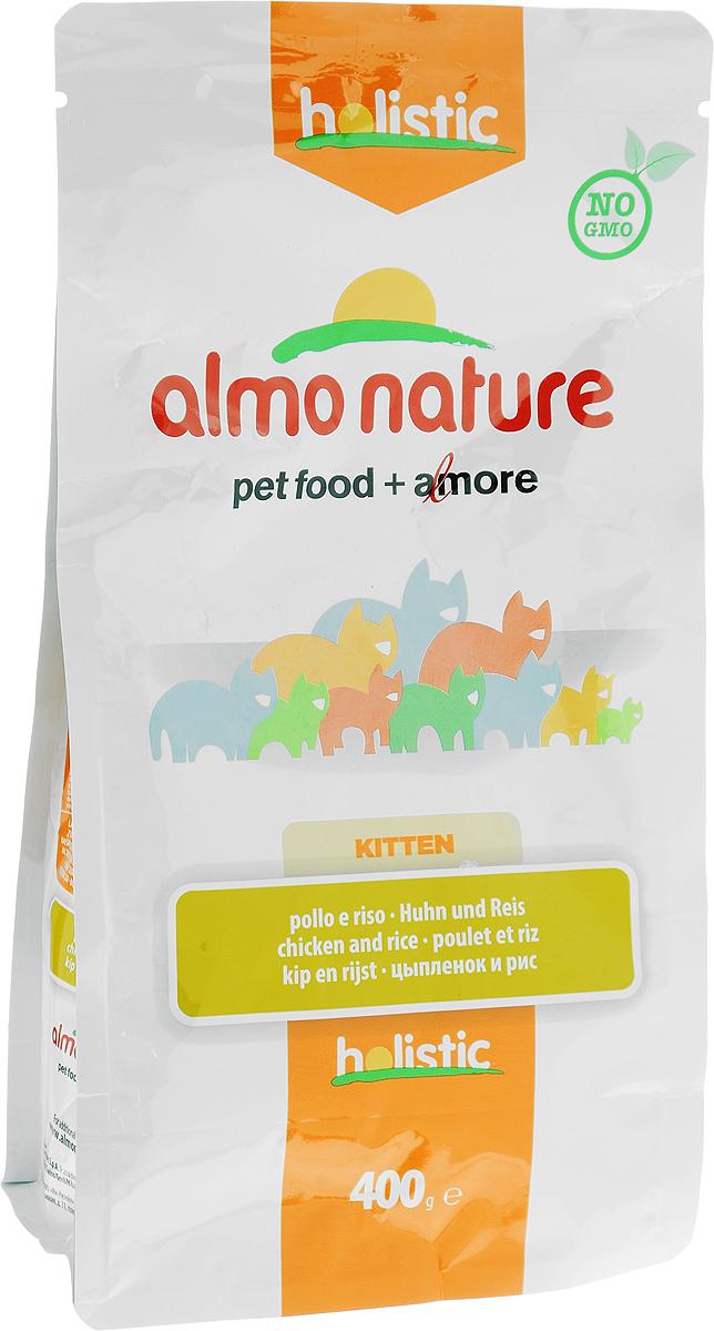 Корм сухой Almo Nature для котят, с цыпленком и рисом, 400 г