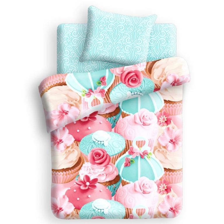 Комплект детского постельного белья 4You Капкейк, 1,5-спальный, наволочка 70х70