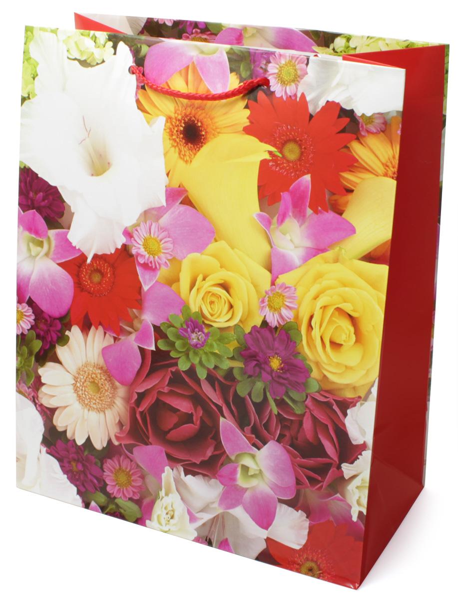"""Пакет подарочный МегаМАГ """"Цветы"""", 26,4 х 32,7 х 13,6 см. 3062 L"""
