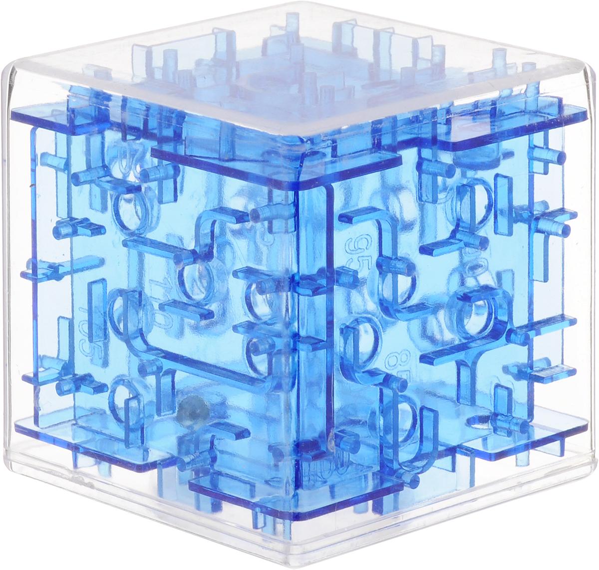 Эврика Головоломка-лабиринт Куб цвет синий головоломка эврика лабиринт сфера red 98723