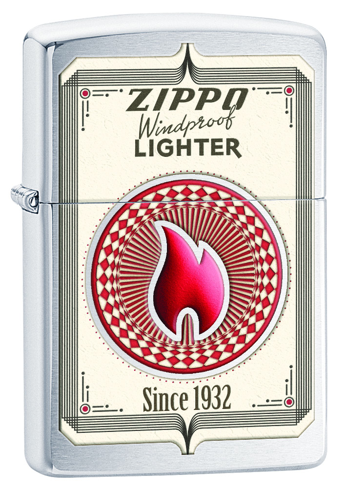 Зажигалка Zippo Classic Brushed Chrome. 28831