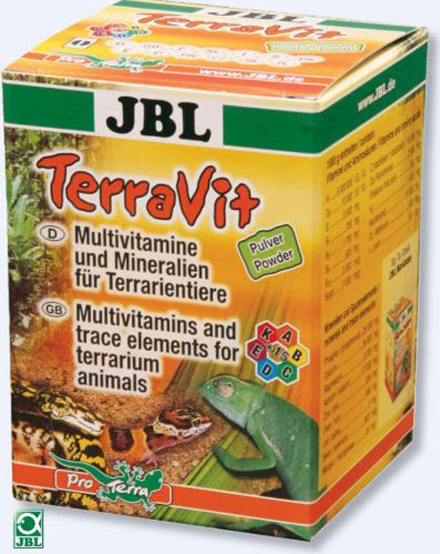 """JBL """"TerraVit Pulver"""" Препарат в виде порошка, содержащий мультивитамины и микроэлементы для обитателей террариума, 100 г"""