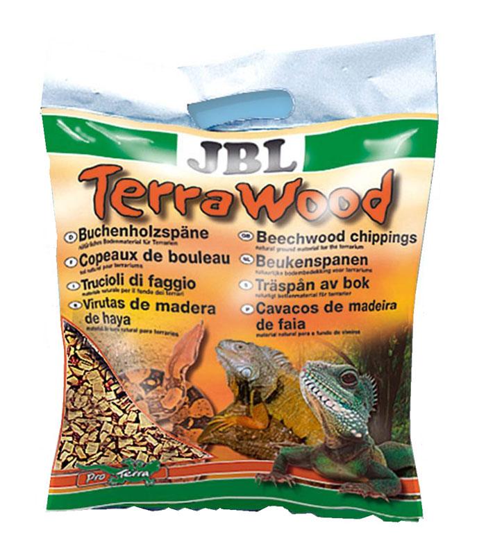 Буковая щепа JBL TerraWood, для сухих и полусухих террариумов, 5 л буковая щепа jbl натуральный донный субстрат terrawood для сухих и полусухих террариумов 20л
