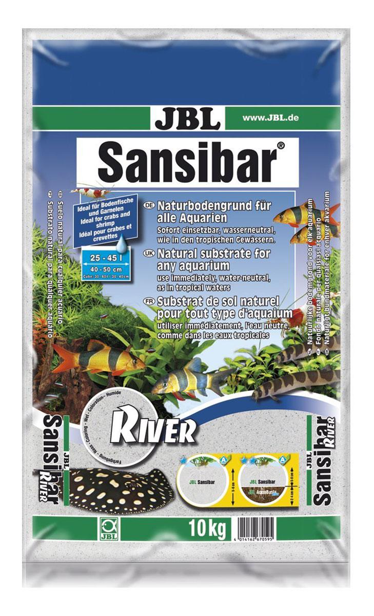 """Декоративный грунт для аквариума JBL """"Sansibar"""", светлый, мелкий, с черными вкраплениями, 10 кг"""