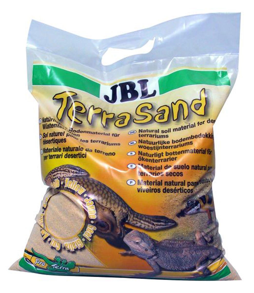 Донный грунт JBL TerraSand, для сухих террариумов, цвет: белый, 7,5 кг буковая щепа jbl натуральный донный субстрат terrawood для сухих и полусухих террариумов 20л