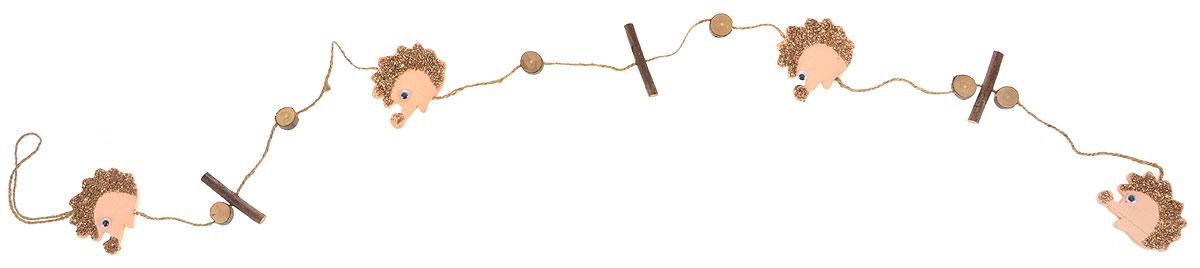 цена на Гирлянда декоративная House & Holder, цвет: коричневый, бежевый, длина 1,2 м