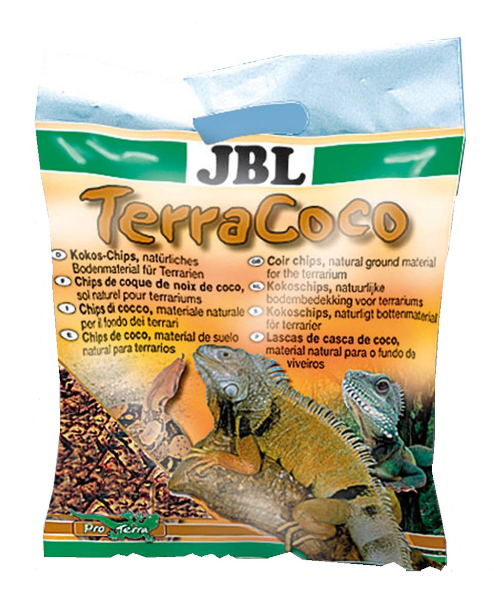 Кокосовая стружка для террариума JBL TerraCoco, 5 л (520 г) буковая щепа jbl натуральный донный субстрат terrawood для сухих и полусухих террариумов 20л