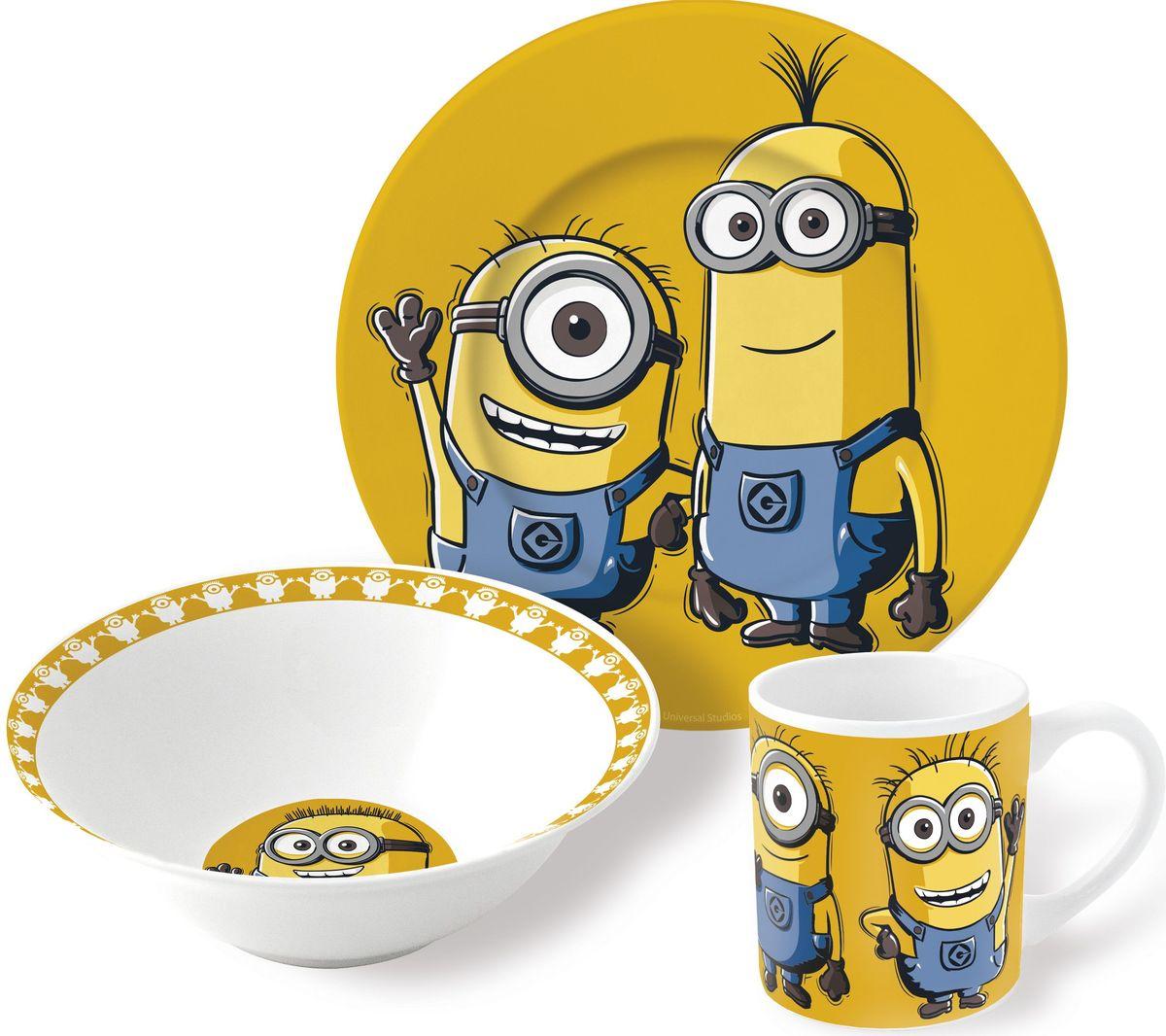 Stor Набор детской посуды Миньоны 3 предмета набор детской посуды маша и медведь фруктовая корзина 3 предмета
